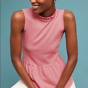 Anthropologie|T.la • Striped Mock Neck Top